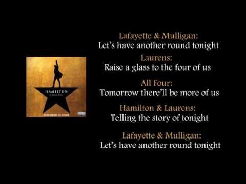 Hamilton - The Story of Tonight lyrics