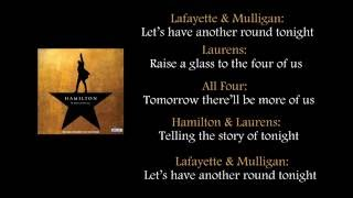 Hamilton - The Story of Tonight lyrics