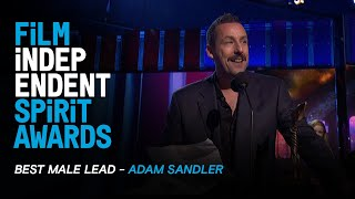 ADAM SANDLER wins Best Male Lead for UNCUT GEMS at the 35th Film Independent Spirit Awards