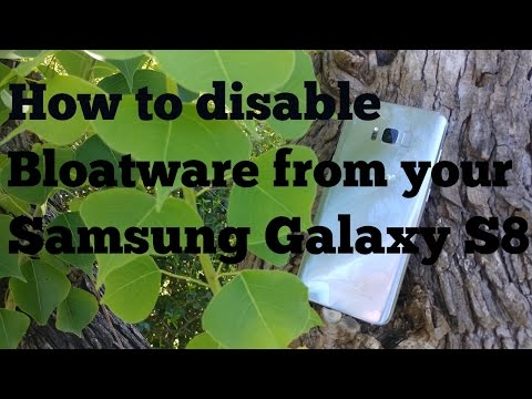 How to disable bloatware on your Samsung Galaxy S8 and S8 plus using Package Disabler Pro.