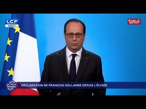 """REPLAY. François Hollande : """"J'ai décidé de ne pas être candidat à l'élection présidentielle"""""""
