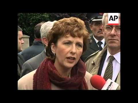 N. IRELAND: IRISH PRESIDENT MARY MCALEESE VISITS OMAGH