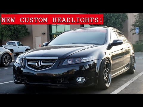 Acura TL Gets Custom Headlights
