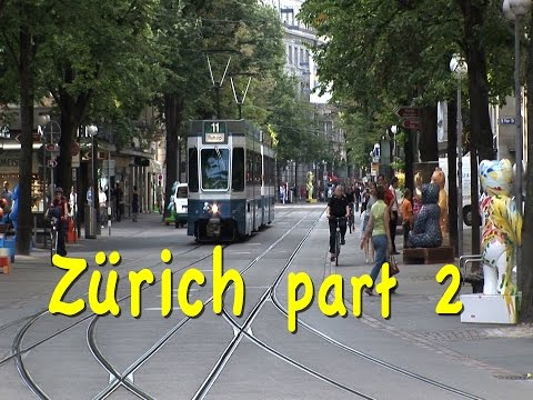 Zurich, Switzerland part 2: Bahnhofstrasse, trams, museums,