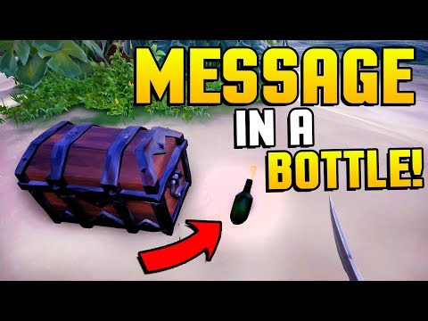 Sea of Thieves - SECRET MESSAGE IN A BOTTLE MASSIVE TREASURE CHEST FIND! - Sea of Thieves Gameplay