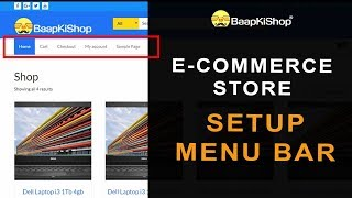 Setup E-Commerce Website - How to use Product Category in Menu Bar - 05