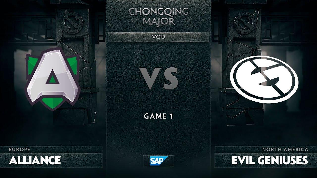[EN] Alliance vs Evil Geniuses, Game 1, The Chongqing Major Group D