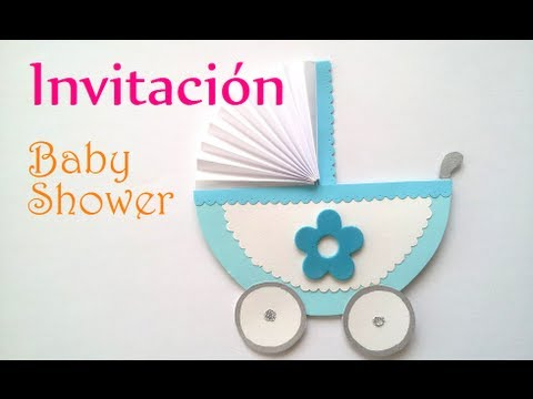 Manualidades: INVITACIONES para BABY SHOWER - Innova Manualidades ...