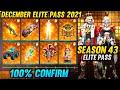 december elite pass free fire 2021 || free fire new december elite pass full review ||