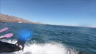 Synchronized diving into the Sea of Cortez to swim with dolphins