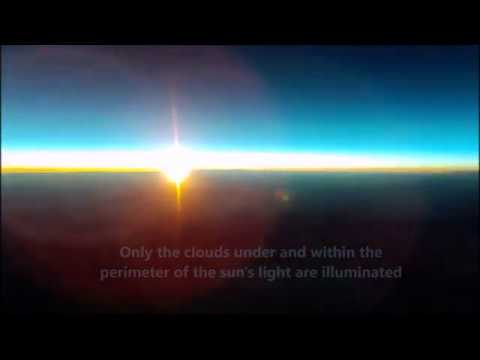 Flat Earth ... Sunset at 22 miles Up - High Altitude Balloon