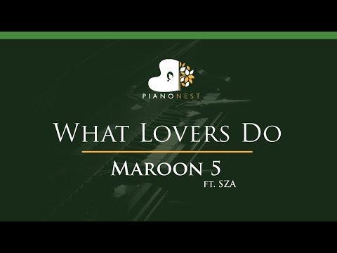 Maroon 5 - What Lovers Do Ft. SZA - LOWER Key (Piano Karaoke / Sing Along)