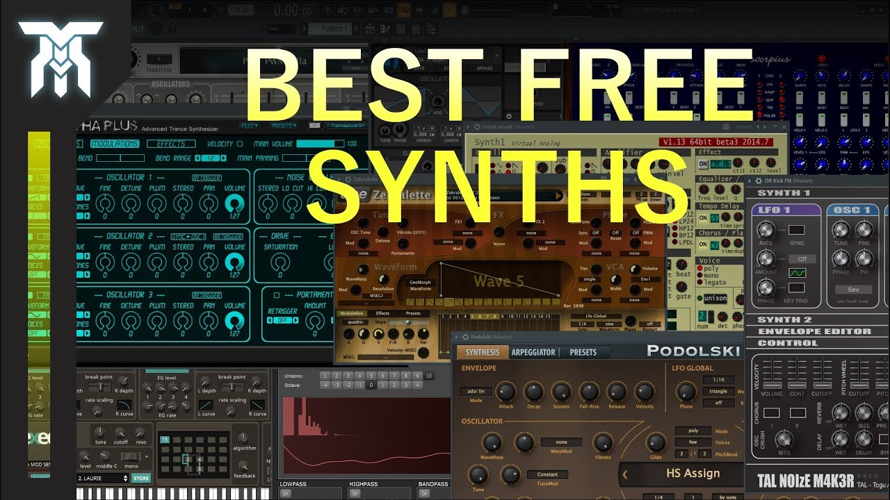Best FREE Synth VST Plugins | Top 10 (2018)