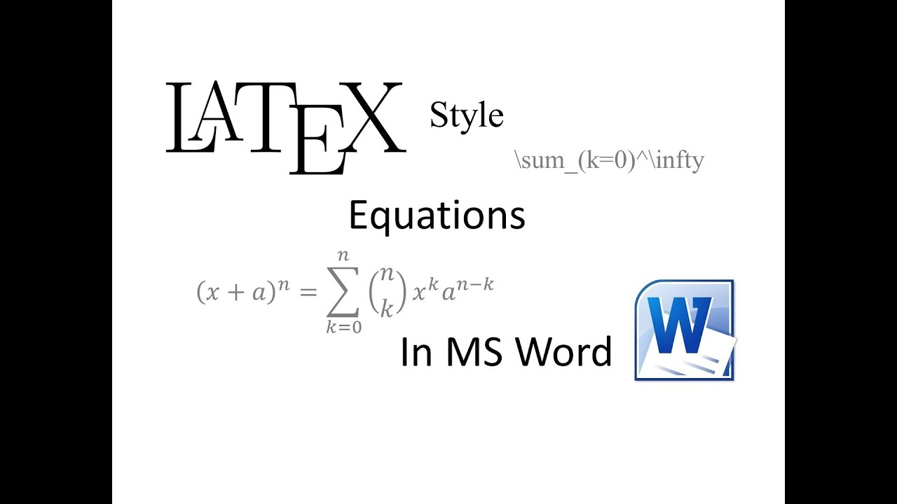 Latex-style equations in MS Word