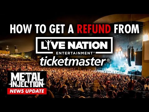 How To Get A Refund For Ticketmaster / Live Nation Postponed Shows | Metal Injection