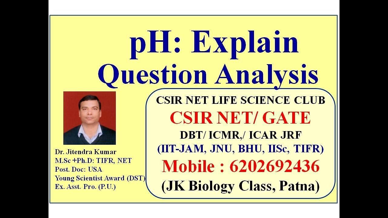 pH: explain, Question Analysis - YouTube