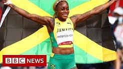 Tokyo Olympics Elaine Thompson-Herah defends 100m title - BBC News
