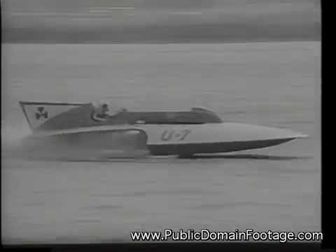 Presidents cup Hydroplane speed boat race accidents 3 dead newsreel archival footage