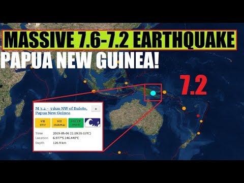 BREAKING MASSIVE 7.2 - 7.6 EARTHQUAKE ROCKS Papua New Guinea near Bulolo