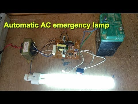 circuit diagram of 6v emergency light how to make automatic ac emergency cfl lamp youtube  automatic ac emergency cfl lamp