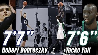"😮 Tacko Fall 7'6"" vs Robert Bobroczky Tacko 7'7"" 😮😮 