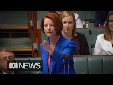"Thumbnail for the embedded element ""Julia Gillard's ""misogyny speech"" in full"""
