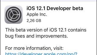 IOS 12.1 BETA 1!!! NOVIDADES E COMENTÁRIOS.