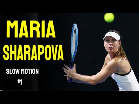 Maria Sharapova Slow Motion Compilation 1 Youtube
