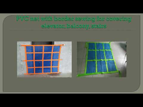 MAKING NET BORDER WITH COLOR AND BUTTON FOR CONSTRUCTION SAFETY NET