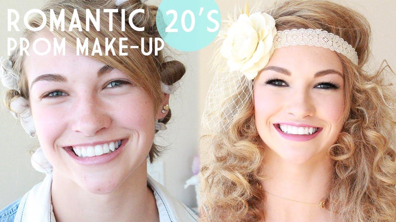 1920's Gatsby Inspired Prom Make-Up - YouTube