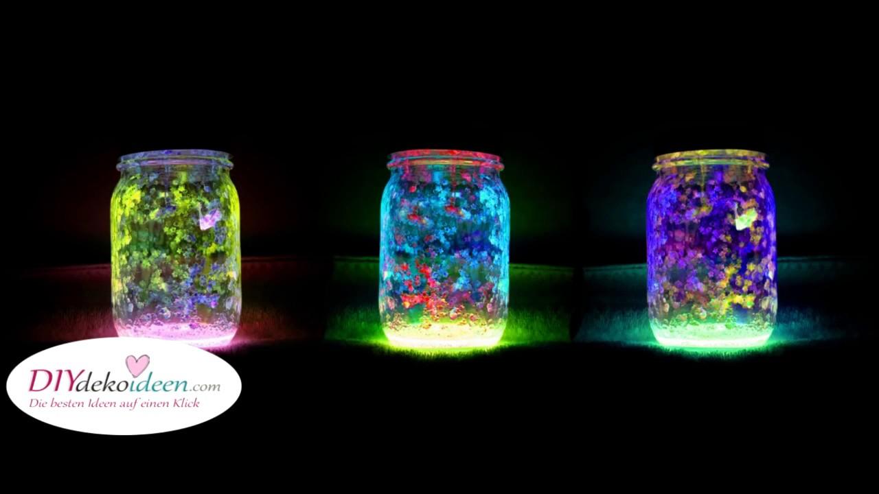 diy deko leuchtende marmeladengl ser diy fairy glow. Black Bedroom Furniture Sets. Home Design Ideas