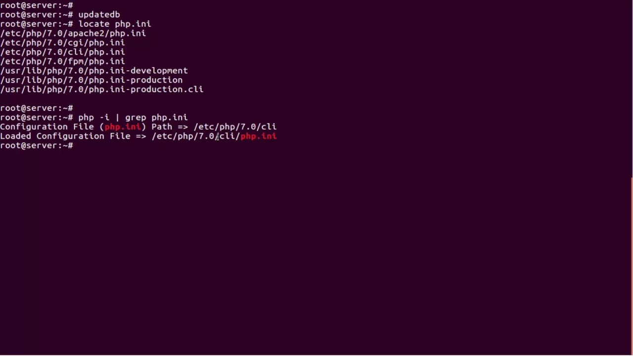 How to find php.ini file used by command line
