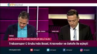 Futbol Net 30 Ağustos 2019 (Beşiktaş, Başakşehir ve Trabzonspor'un rakipleri belli oluyor)