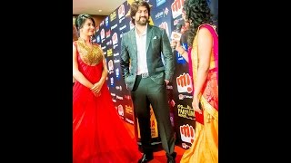 Yash & Radhika Pandit  Talking About SIIMA | Red Carpet | SIIMA 2015 | Kannada