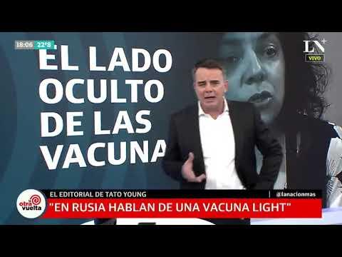 Insólita teoría de Tato Young sobre la vacuna rusa