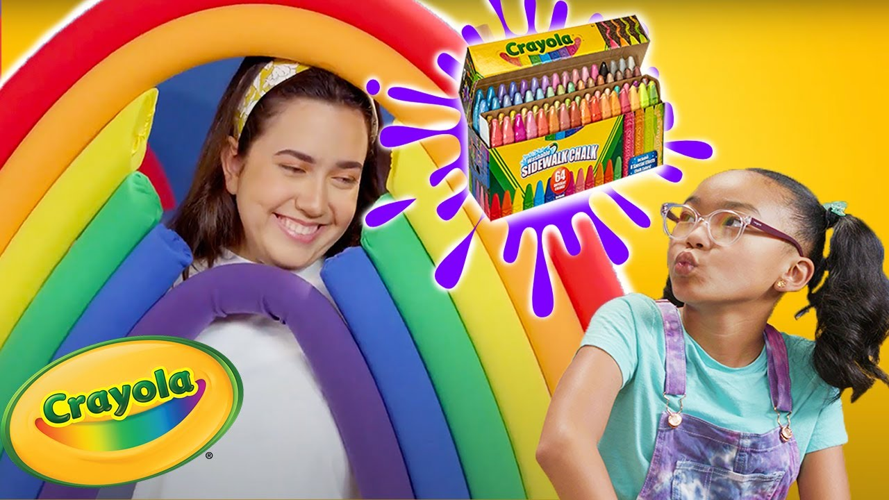 How to Create a Happy Rainbow 🌈 Sidewalk Chalk   NEW FUNBOXING EPISODES ✏️ Crayola Kingdom