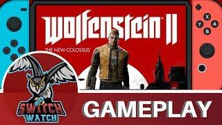 Wolfenstein 2: The New Colossus Nintendo Switch Gameplay - Handheld!