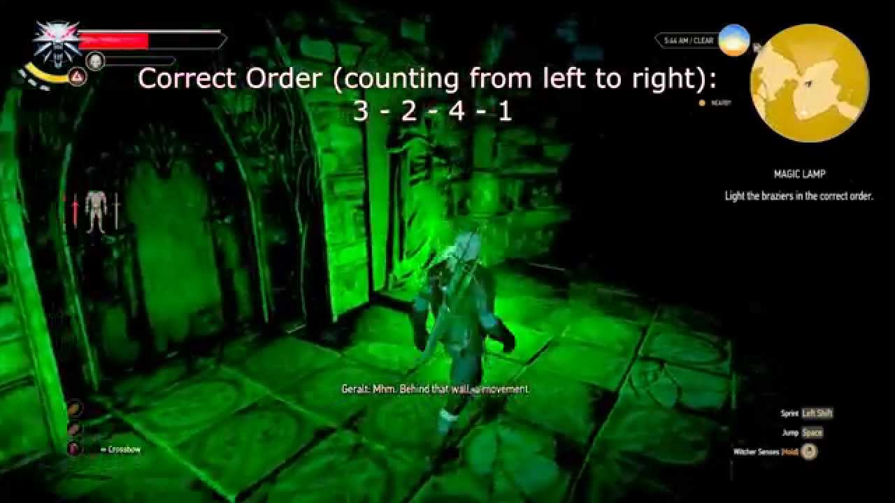 Witcher 3: Wild Hunt - Magic Lamp Puzzle Solution - YouTube