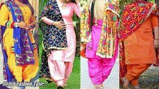 Handmade & Modern Phulkari Suit Design - Punjabi Suit Designer Boutique - Dupatta Suit Design