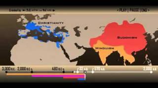 Die Verbreitung der Weltreligionen, Spread of World Religions