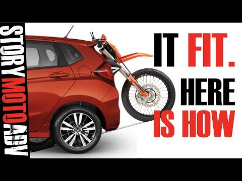 HOW TO HAUL a Dual Sport Motorcycle INSIDE Your SMALL CAR It Fits