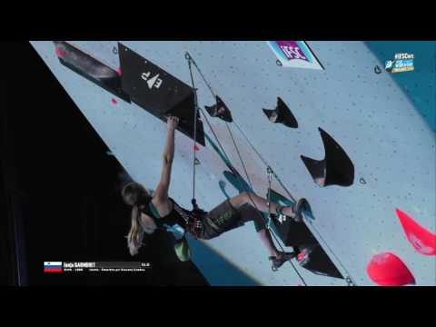 IFSC Climbing World Cup Villars 2016   Lead   Finals   Women   Janja Garnbret mp4