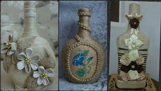 New Jute Craft Bottle Decoration Ideas.