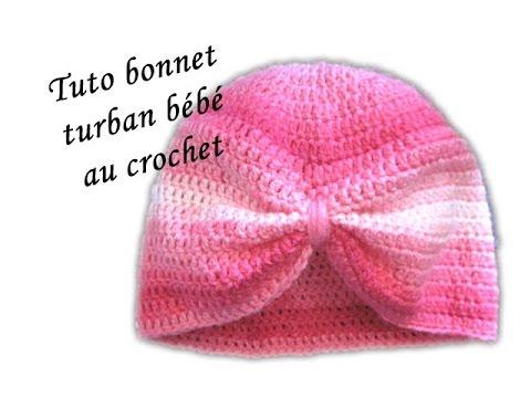 les tutos de fadinou tuto bonnet turban pour bebe au crochet. Black Bedroom Furniture Sets. Home Design Ideas