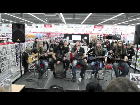 Sabaton-Acoustic session - Media Markt Norrköping 2012-12-01 PT 1 HD