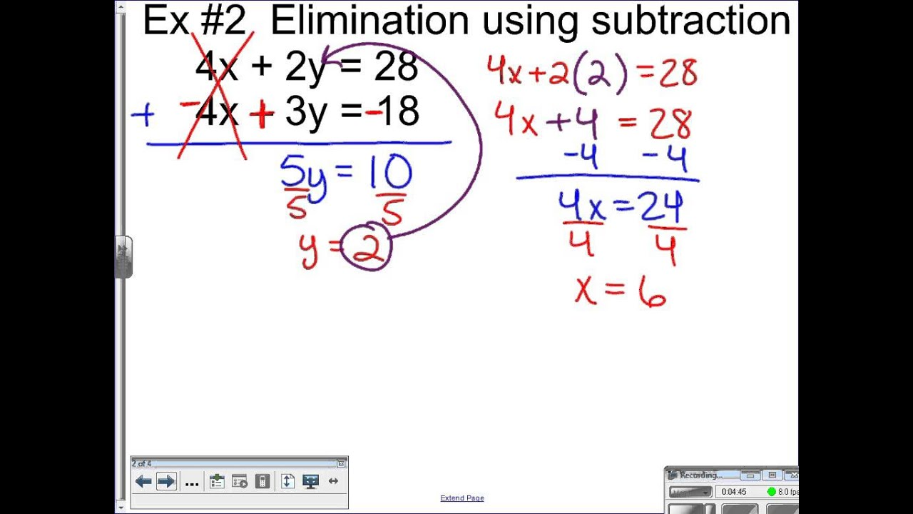 Lesson 6 3 Elimination With Addition And Subtraction