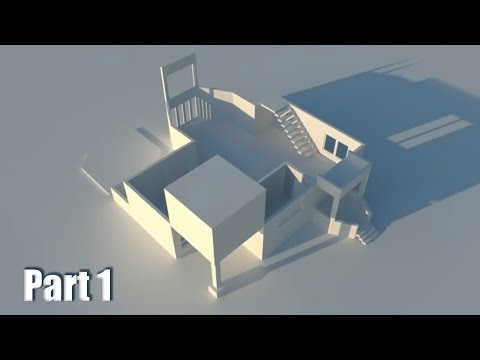 #6 - Residental design in free Google SketchUp 8 - how to build whole house part 1