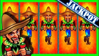 FIRST TO YOUTUBE! JACKPOT HAND PAY on Jumpin' Jalapeno Jackpots Slot Machine W/ SDGuy1234