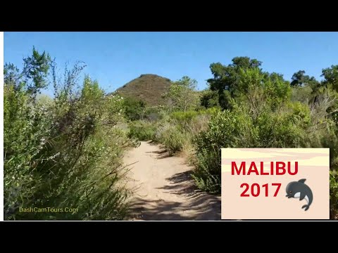 Malibu, California,USA: Waterfalls Trail & Driving Along the Pacific Ocean on the PCH