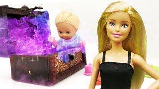 Видео про куклы Барби. Штеффи нашла волшебный сундук!